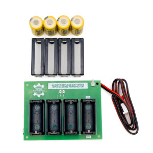 Haas Quad Battery Kit - 93-32-4307 Use this battery kit to replace the battery on the Processor on any model haas machine. Once this kit is installed the battery can be replaced with out removing the circuit boards or powering off the machine. Use this in place of 93-32-4307