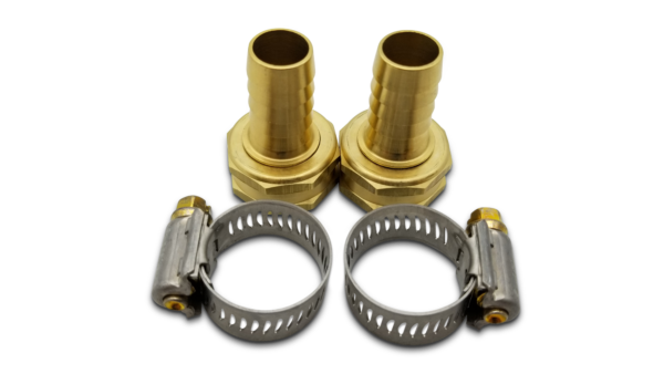 Coolant Hose fittings 1/2 and Coolant Hose fitting 5/8 with Hose Clamp